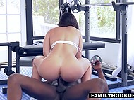 Abella Danger comes to gym but muscled black man fucks her instead workout 11