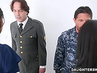 Strict military man force stepdaughter to do push-ups and teach her some other lessons 4