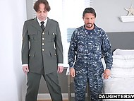 Strict military man force stepdaughter to do push-ups and teach her some other lessons 5