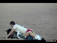Compilation of porn videos recorded by voyeurs spying on lustful couples fucking on beach 8