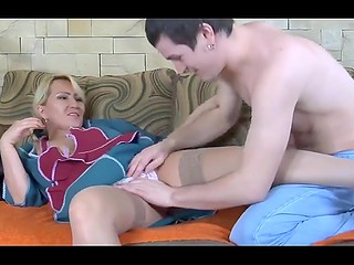 Youngster calls middle-aged housemaid from Russia but not for cleaning but for anal fucking