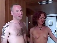 Red-haired Dutch woman entrusts her husband to perverted friend for swinger group sex 6