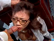 Paperwork isn't the most important duty that pretty Japanese secretary needs to do for boss 10