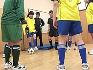 Goalkeeper of female soccer team from Japan got too many goals and coaches punished her in dressing room 5