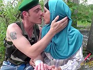 Military man got his hand wounded but smart Arab woman rendered him first aid 4