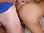 Mind-boggling sportsgirl isn't tired after doing some exercises and wants friends to double penetrate her 6