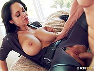 Unmatched pornstar Ava Addams with cat ears met man not just with great blowjob