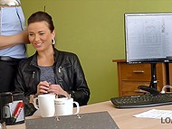 Czech girl needs big credit and she lets office employee fuck her to speed up process 3