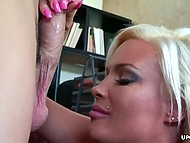Youngster closed office and put hard dick into great-boobied secretary's vagina 4