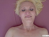Unhurried masturbation of shaved pussy leads experienced Czech lady to orgasm 11