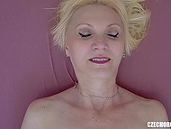 Unhurried masturbation of shaved pussy leads experienced Czech lady to orgasm 4