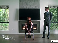 Red-haired secretary Kayden Kross was dreaming of sex with gallant boss before it happened in reality 4