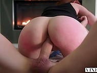 Red-haired secretary Kayden Kross was dreaming of sex with gallant boss before it happened in reality 8