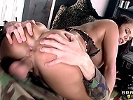 Stacked nurse Peta Jensen does head bandage and satisfies soldier sexual needs 10