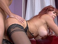 Madame with red hair took advantage of boy's cock to satisfy her never-ending sexual hunger 4