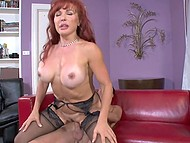 Madame with red hair took advantage of boy's cock to satisfy her never-ending sexual hunger 6