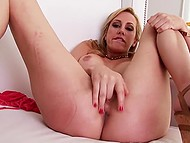 It was very pleasurable for young nympho to pick her pussy with fingers, she even came 10