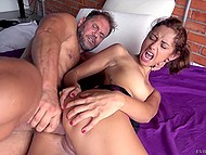 Spanish stallion Nacho Vidal anally stretches flawless Latina cutie with his fat tool