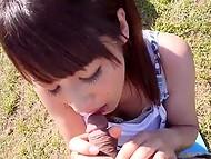 Выдался чудесный солнечный денёк и молодые японцы смогли выбраться на природу и покувыркаться