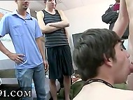 Roommates watch and give commands to young twinks during sex in dormitory 7
