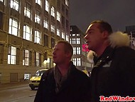 Male drinks some beer and goes to cheap brothel for having fun with Dutch hooker 4
