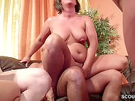 Another meeting of mature German couples again turns into crazy swinger orgy 11