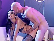 Asian stripper Brenna Sparks has special private session with her favorite client in quiet spot 9