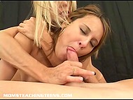 Dirty cougar makes sure her good-looking stepdaughter will be talented at satisfying guys 4