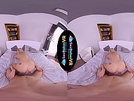 Amazing VR video in which guy wakes up girlfriend for sensual sex in cowgirl pose 10