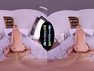 Amazing VR video in which guy wakes up girlfriend for sensual sex in cowgirl pose 11