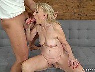 Young stallion is addicted to experienced women and he seduces old blonde female 4