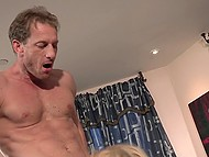Married couple decides to switch partners and sinewy neighbor fucks busty blonde Alexis Fawx 4