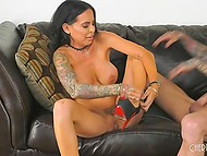 Hairless fucker needs to thank glamour brunette for deepthroat and leads her to squirt 6