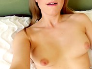 Lonely sweetie got her first camera and recorded pretty exciting solo masturbation video