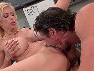 To have dinner after working day husband has to earn it first being carnal with buxom wife 3
