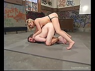 Young blonde lady bounds, dominates and assfucks with strapon her male slave