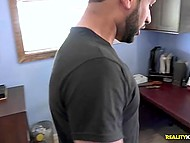 Sponsor and assistant offer money to random guy for making his girlfriend suck cock 9