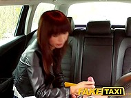 Tricky taxi driver brings Japanese passenger in deserted place where asked her to suck cock 6