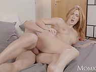 Sensitive Eva Berger from Russia likes lover moving penis slowly inside her shaved pussy