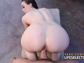 Brave office worker tells curvy Chanel Preston about his feelings and soon takes her cunny by the pool