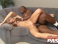 Small waist of blonde MILF attracted black man and he arranger sex-marathon for that bitch 11