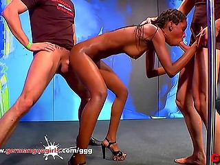 It wasn't a walk in the park for black girl when she came to German porn studio cause everyone fucked her