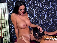 Devoted fan of godlike pornstar Ava Addams was lucky not just to fuck her but also to admire lesbian threesome 10