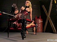 Prisoner was punished hard by Norwegian queen of femdom by the name of Monica MILF