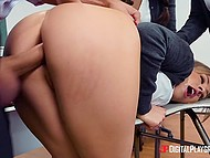 Teen has missed several lessons so professor makes sure she receives nice anal pounding 6
