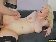 Guy roughly fucks blonde with big juicy boobs Kiki Parker who wanted to get revenge
