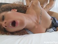 Lucky guy on his birthday has rough sex with Ebony GF Kendall Woods in bedroom 10