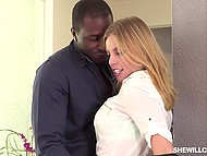 Experienced realtor Britney Amber cheats on hubby with famous Ebony football star 7