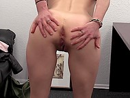 Girls with pretty faces masturbate each other's pussy before one of them sucks cameraman's cock 4