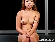 Восточная красотка дарит сладенькую писечку чёрному порно агенту на жёстком кастинге 10